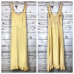 Faithfull The Brand Noemie Polka Dot Midi Dress XS